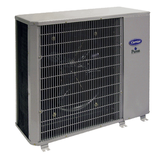 Carrier Performance 14 compact central air conditioner.