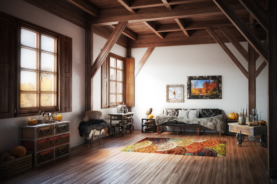 Home in Autumn representing the 5 reasons why you should schedule a fall furnace clean and check
